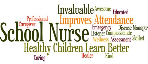 School Nurse Words Icon