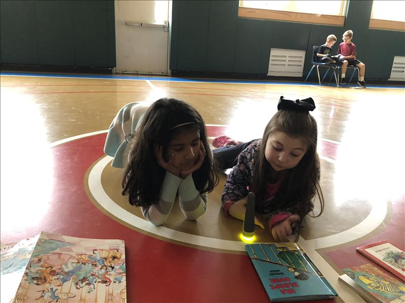 Buddy Reading with Flashlights