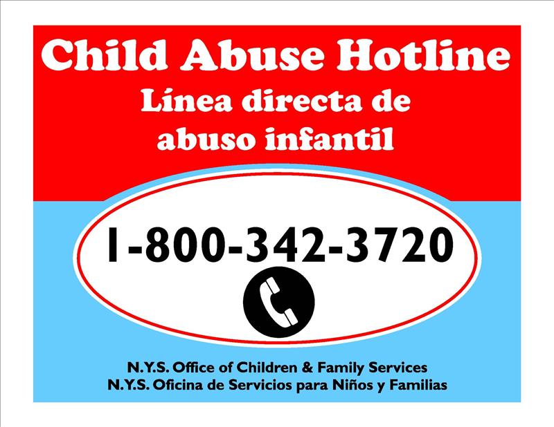 Child Abuse Hotline / Linea directa de abuso infantil
