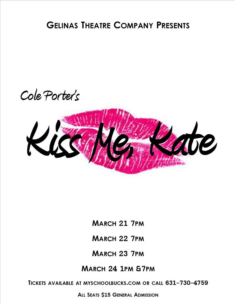 Kiss Me Kate flyer