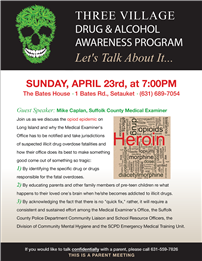 Drug & Alcohol Awareness Program Flyer Image