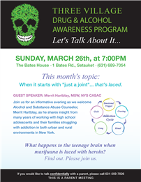 Drug & Alcohol Awareness Program Flyer